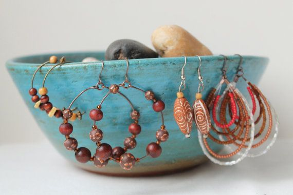 Bohemian Beaded Earrings Vintage by TequilaCloset on Etsy, $22.00