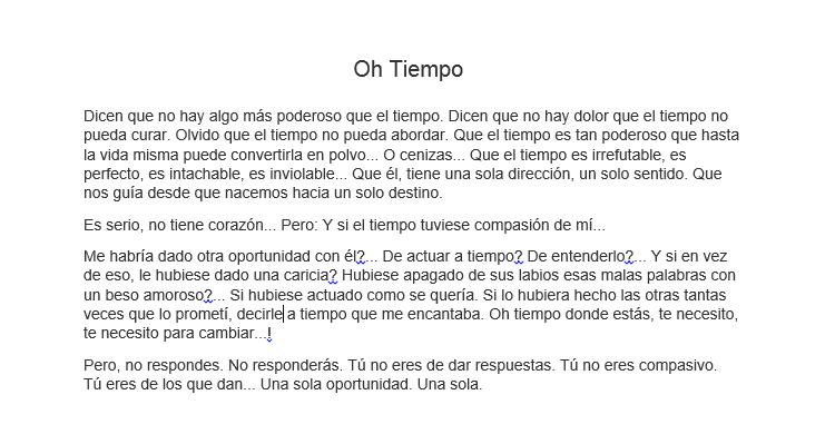 Tiempo.