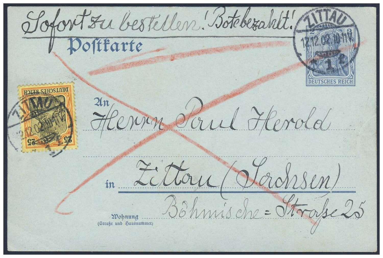 postkarte porto usa