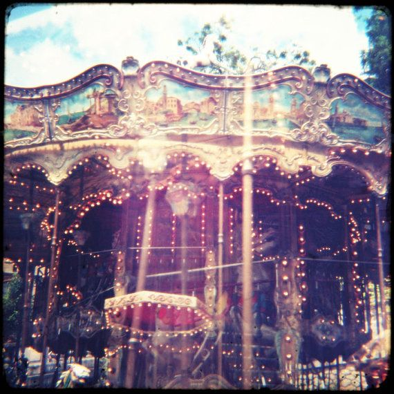 Carnival Photo Print Haunted Carousel Fine by missquitecontrary, $25.00