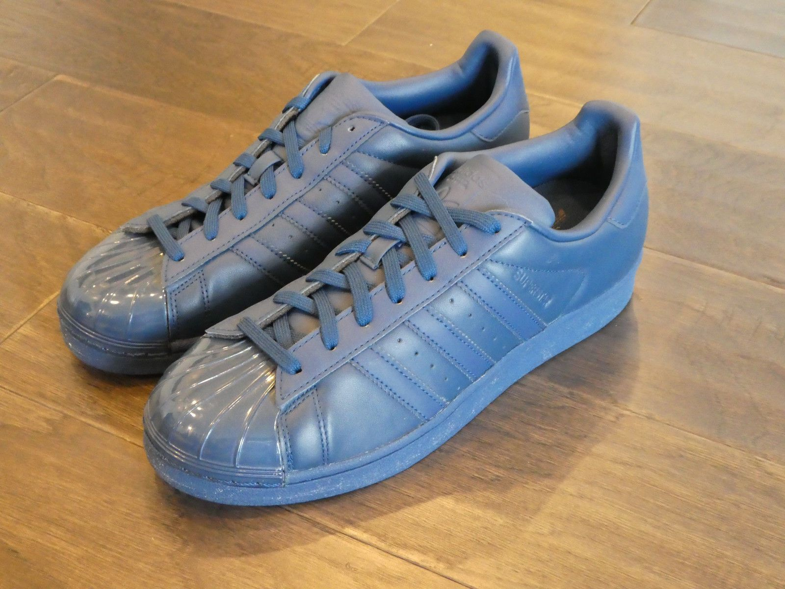 reputable site 2f97c c274c Adidas Womens Superstar Glossy Toe shoes sneakers new S76723 Tecsteel Blue