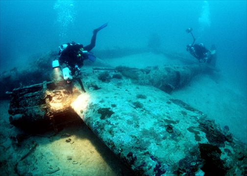 sunken ships and planes   Papua New Guinea divers find P ...