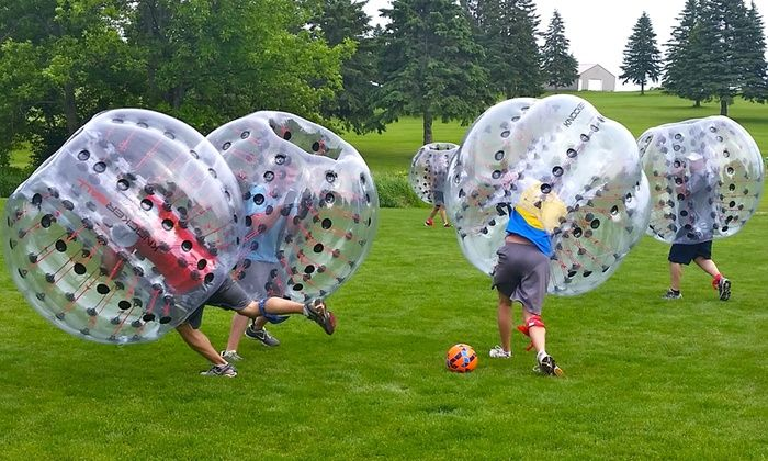 bubble soccer party bubble smash sports groupon manly gifting
