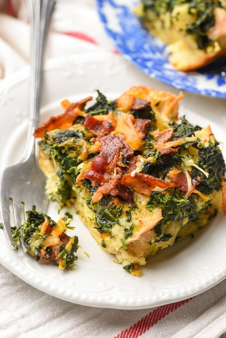 Overnight Breakfast Casserole with Bacon This easy OVERNIGHT BREAKFAST CASSEROLE is loaded with bac