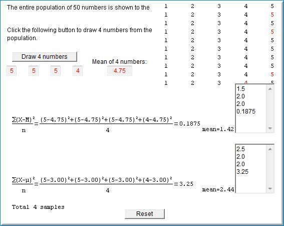 changed distribution - variance and standard deviations Stats - sample variance