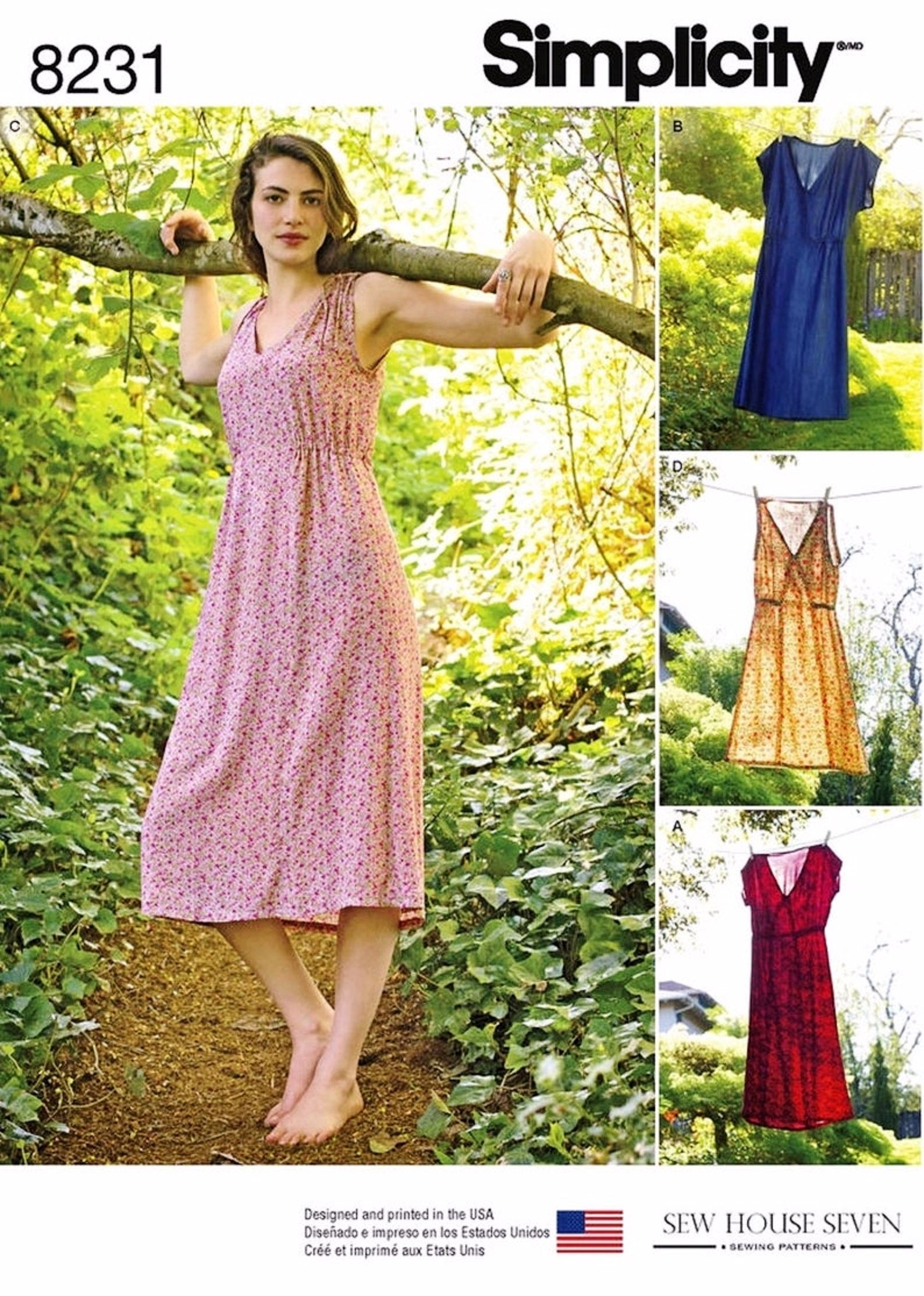 Sewing Pattern For Women S Easy Pullover Dress Pattern Casual Summer Dress Pattern S Summer Dress Patterns Summer Dress Sewing Patterns Dress Sewing Patterns [ 2228 x 1588 Pixel ]