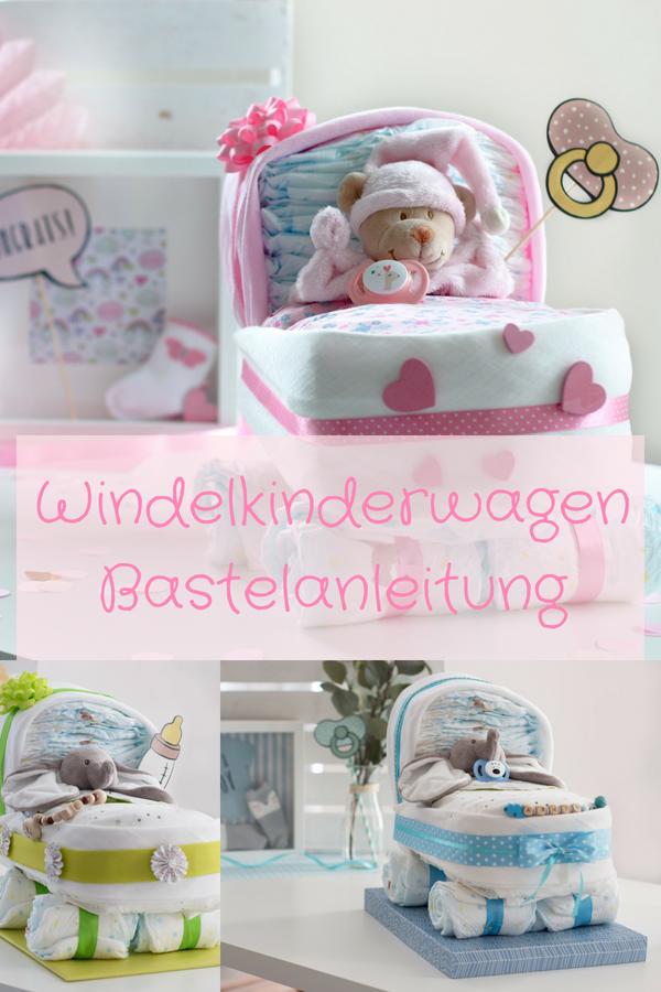 """★♥Kleines Windelbettchen /""""Baby Girl/""""♥★ Geschenk zur Geburt Taufe  Windeltorte"""