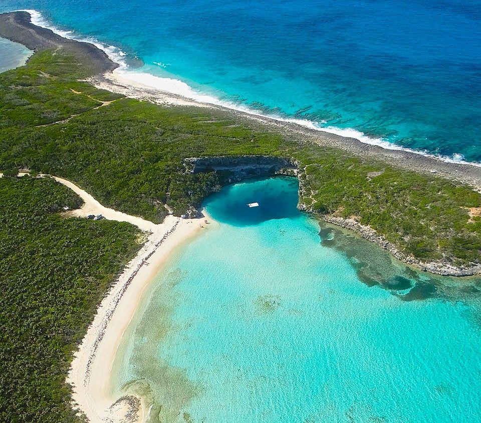 Beach Island: Dean's Beach In Long Island, Bahamas (home Of The Magical