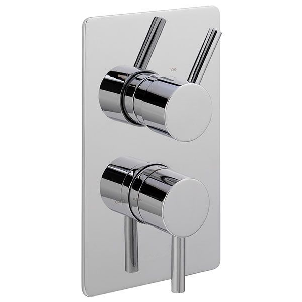 Sagittarius Ergo Concealed Shower Valve Dual Handle Chrome