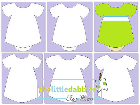 Dress And Tutu Templates Baby Shower Girl Onesie Dress Etsy Baby Onesie Template Baby Girl Onesies Girl Onesies