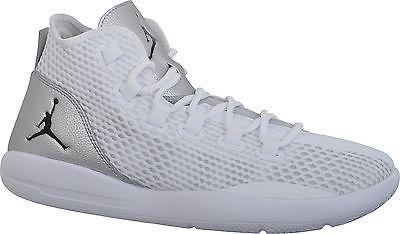 08626cdf14c Nike Jordan Reveal Mens 834064-100 White Silver Mesh Basketball Shoes Size  9.5