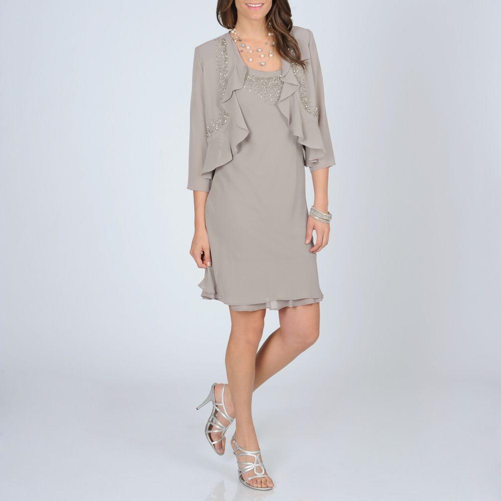 R u m richards womenus mocha beaded piece dress by r u m richards