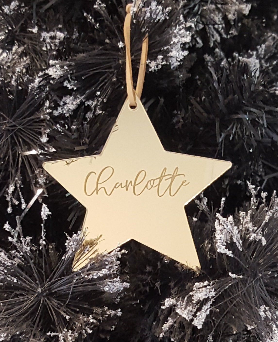 Personalised Engraved Acrylic Star Ornament Christmas Etsy Christmas Ornaments Star Ornament Ornament Decor