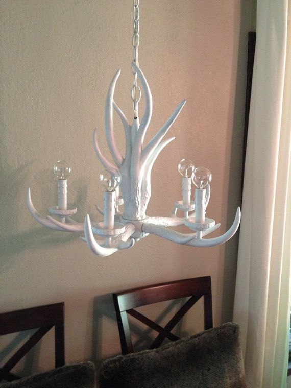 White antler chandelier antlers chandeliers and dining white antler chandelier aloadofball Choice Image