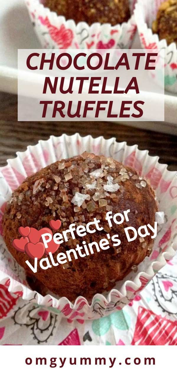 If you have a Nutella fan in the house, these are a simple surprise treat to prepare for Valentine's Day or any day worthy of chocolate (read EVERY DAY)! Directions include an option to use coconut cream instead of heavy cream. Make these perfect for the ones you love! #nutella #truffles #chocolatetruffles #valentinesday #chocolate #hazelnut
