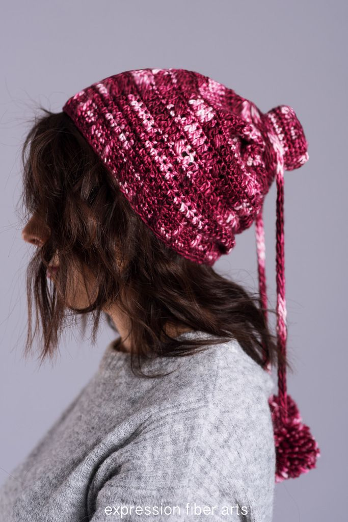 Cranberry Cream Convertible Cowl Hat Crochet Pattern by expression ...