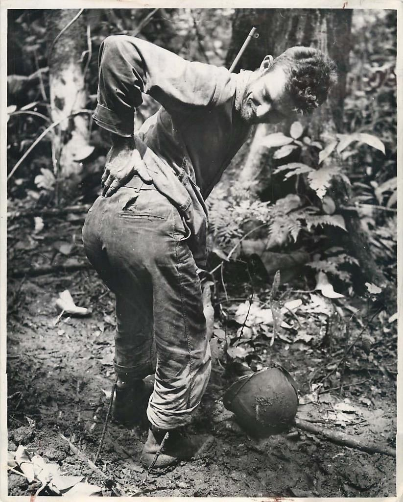 1944- U S  Marine Corporal Harvey Beasley who participated in the
