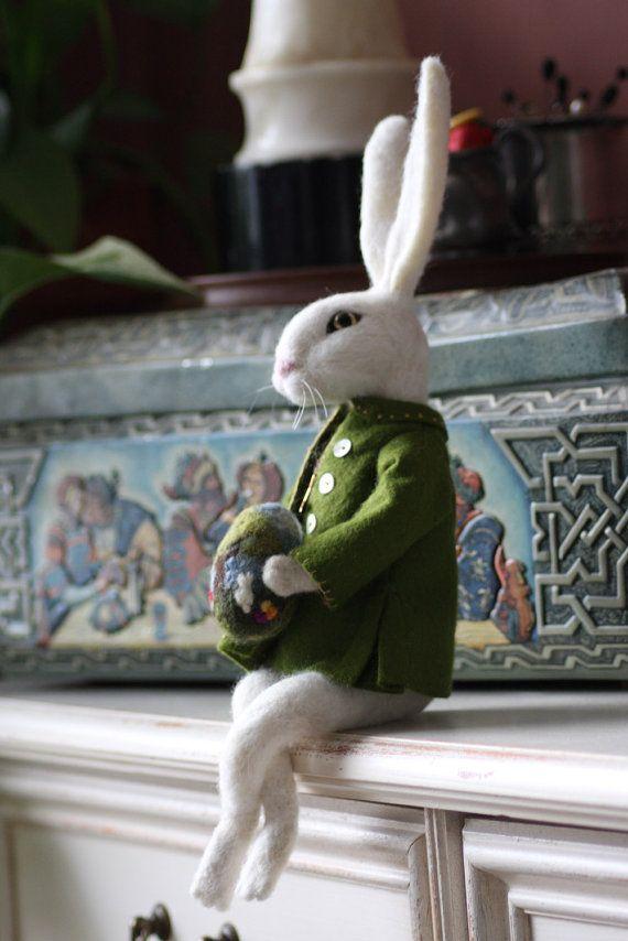 Harvey the Bunny by FeltofDreams on Etsy
