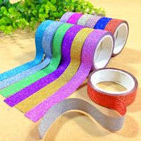New DIY Cute Kawaii Glitter Tape Sticky Masking Decorative Tapes...