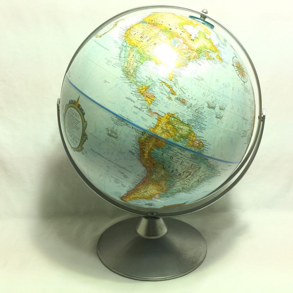 "Vintage Replogle 12"" World Diameter Globe World Classic Series w/ Metal Stand"