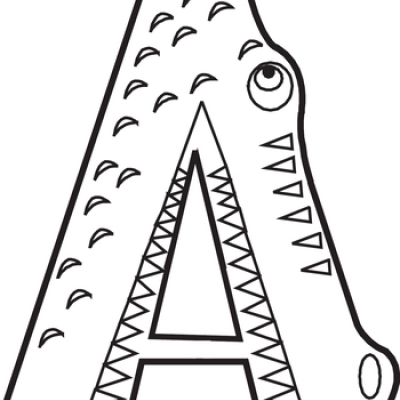 Color the Alphabet {Free Printable Coloring Pages