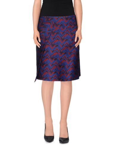 JIL SANDER NAVY Women's Knee length skirt Blue 8 US
