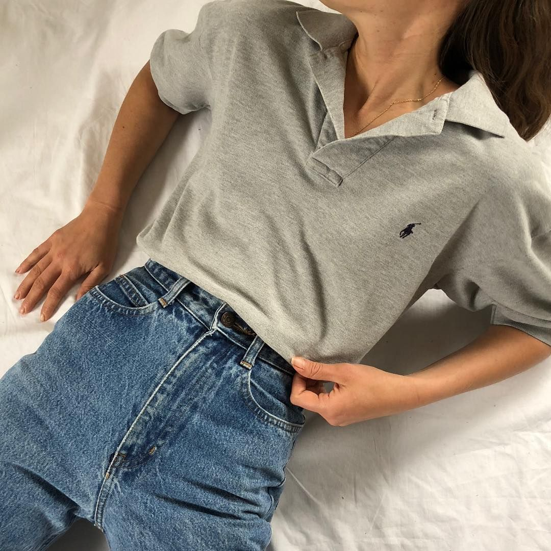 Grey cotton Ralph Lauren short sleeve polo. Size s-l $26 ...