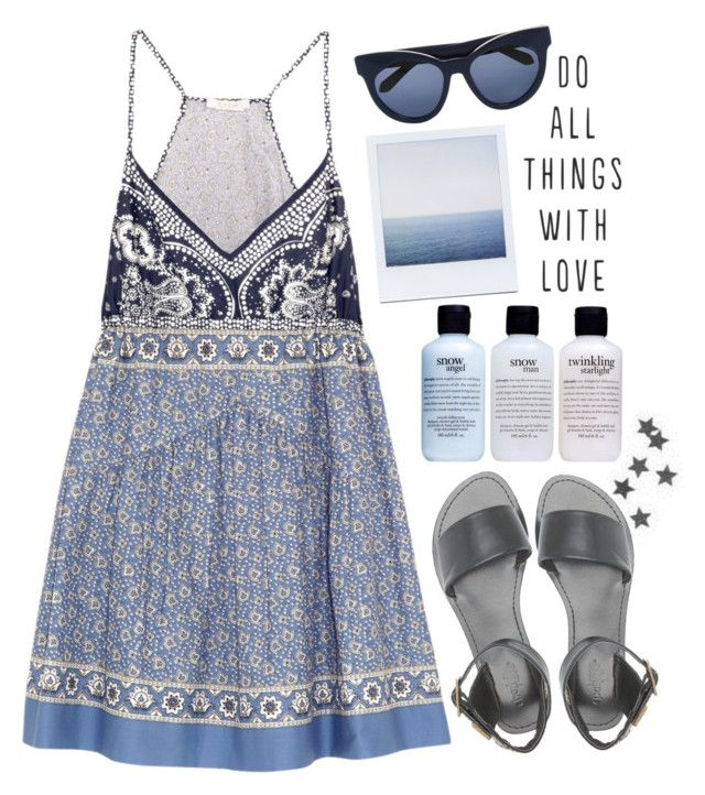 """""""Halters in the Heat"""" by gretamariaa ❤ liked on Polyvore featuring Chloé, Charlotte Russe, Karen Walker and philosophy"""