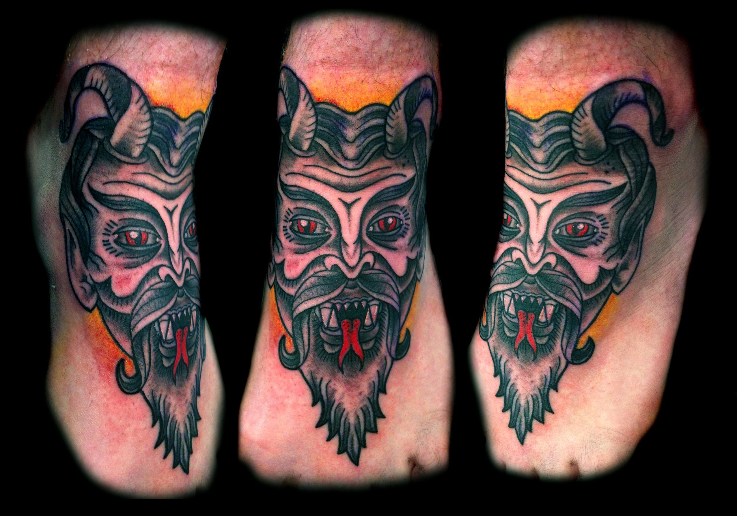 44 best gas mask tattoos collection - Traditional Devil