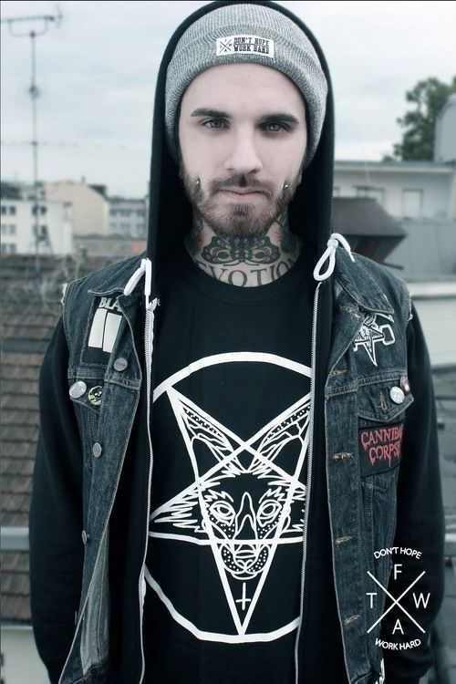 #tattoo #boy #beard #sexy... I wonder how many overlook his Satan shirt!?! Hmm...