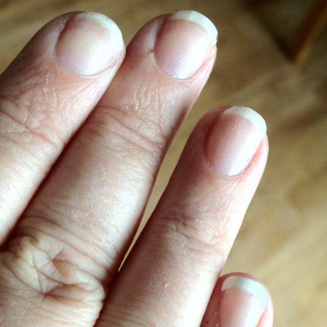 Two weeks with Gelish on, just removed it. I have nails!!!!