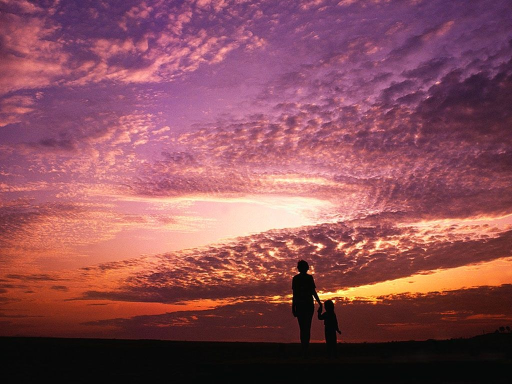 Mother Child Sunset