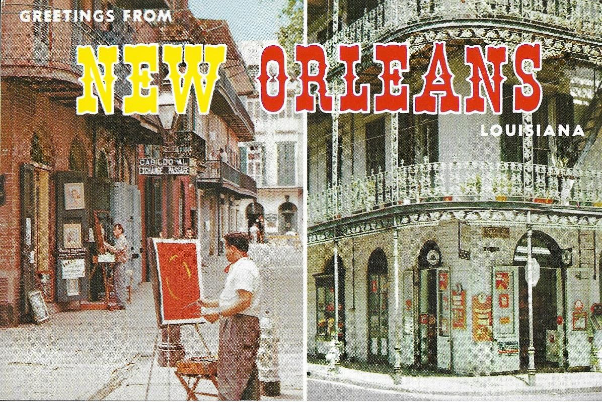 1950s vintage unused travel postcard greetings from new orleans m4hsunfo