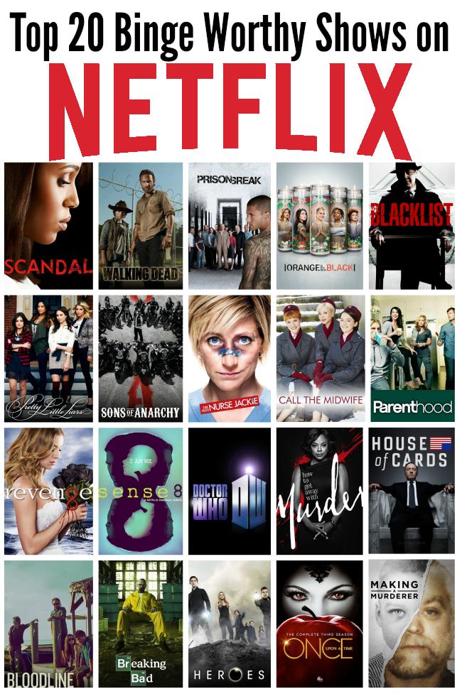 Top 20 Binge Worthy Shows on Netflix #seriesonnetflix