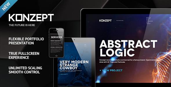 Konzept - Fullscreen Portfolio WordPress Theme | Tipografía ...
