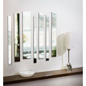 Umbra Strip Wall Mount Mirrors Set Of 7 50 Wall Mounted Mirror Stripped Wall Mirror Decor
