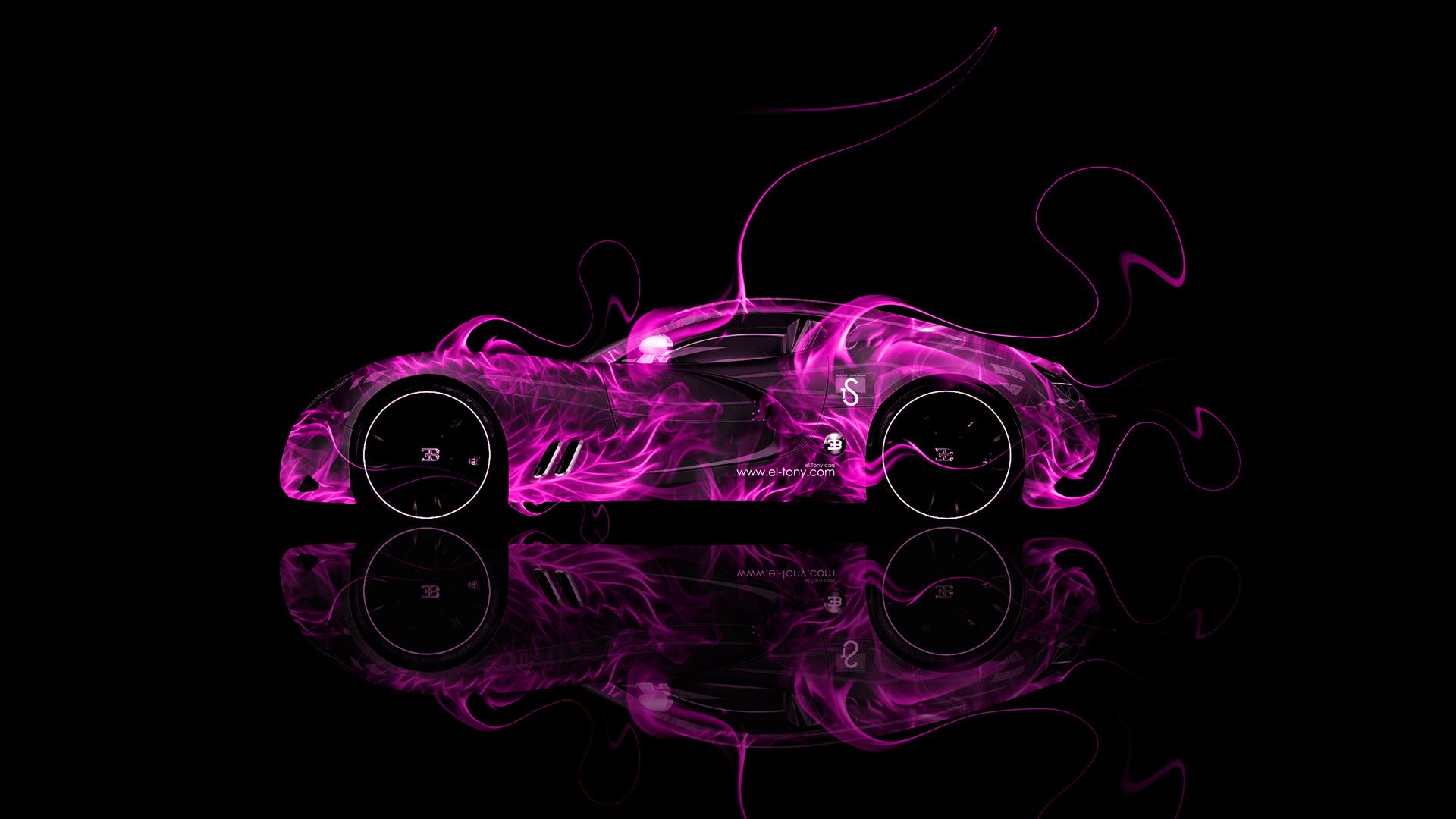 Charmant Gold Bugatti Veyron With Neon | Fire Car Abstract 2013 Hd Wallpapers Design  By Tony Kokhan