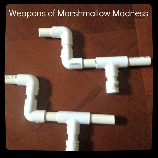 marshmallow guns. SO easy to make for kids and SO fun!