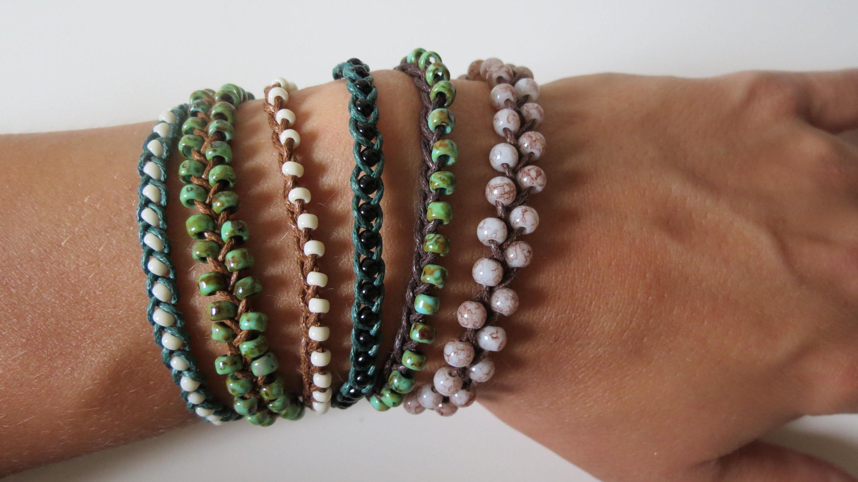 Perlen Armbänder Flechten 3 Varianten Anleitung Bisuteria