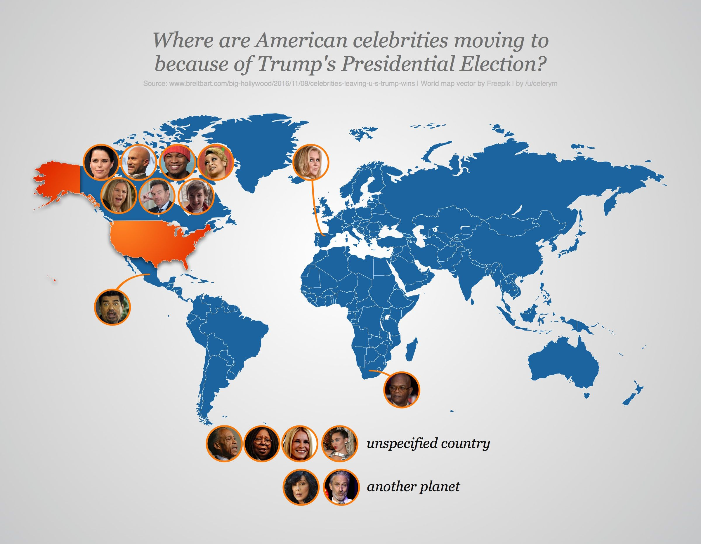 Where are american celebrities moving to because of trumps right over wrong lieber tot als rot mapsontheweb where are american celebrities moving to because of trumps presidential election gumiabroncs Images