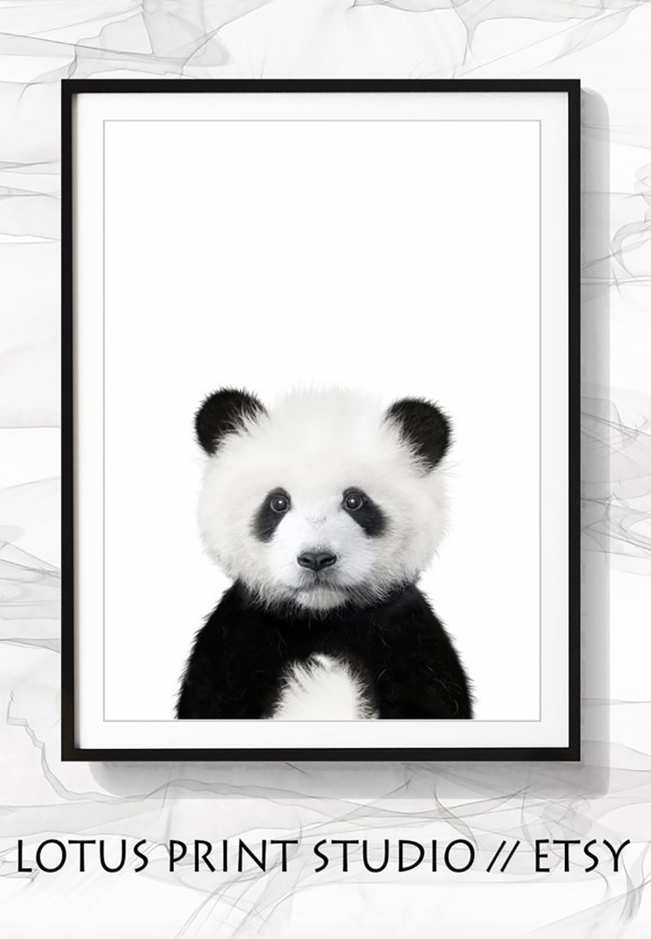 Panda Bear Print, Woodland Animal, DIGITAL DOWNLOAD, Panda Art, Baby Animal Art, Animal Wall Art, Nursery Decor, Nursery Wall Art, #246 #babypandabears