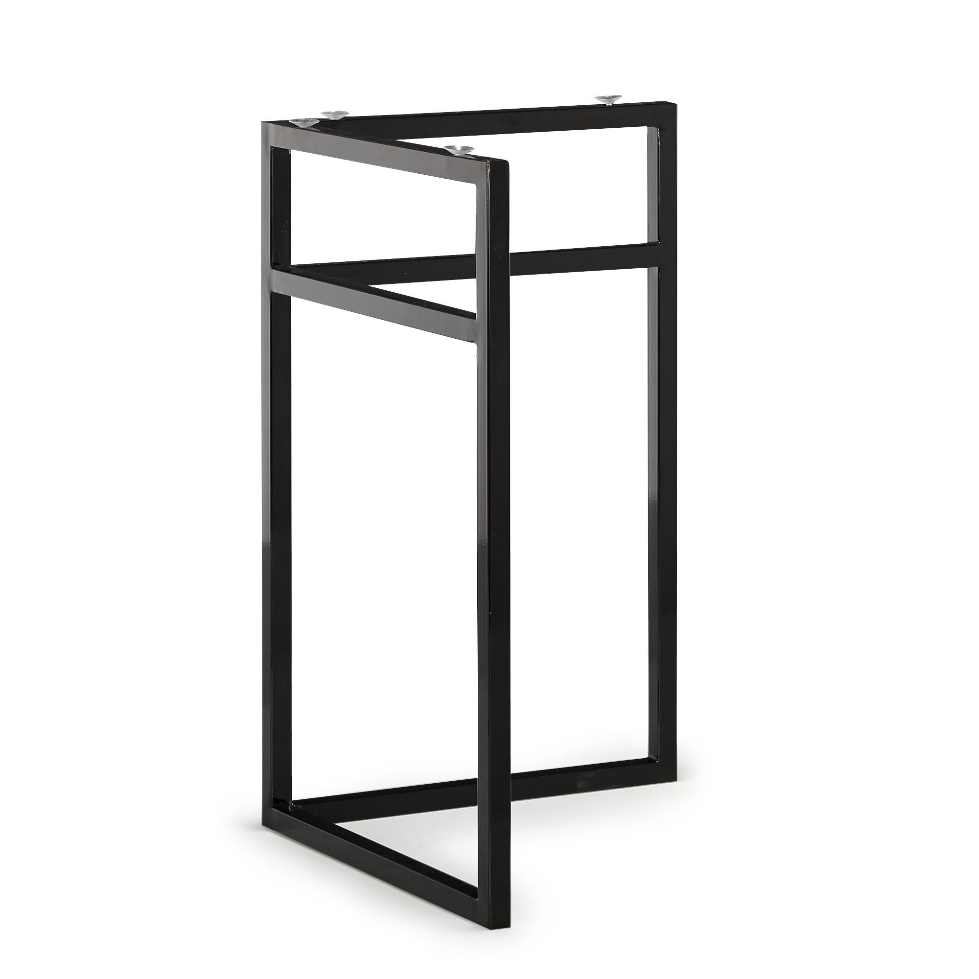 tr teau de bureau universel en m tal noir pour plateau. Black Bedroom Furniture Sets. Home Design Ideas