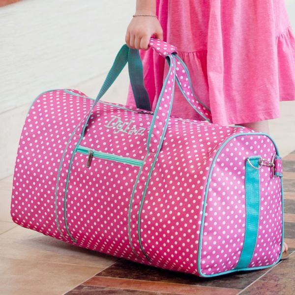 Personalized Large Barrel Duffel Bag Kids Teen Travel