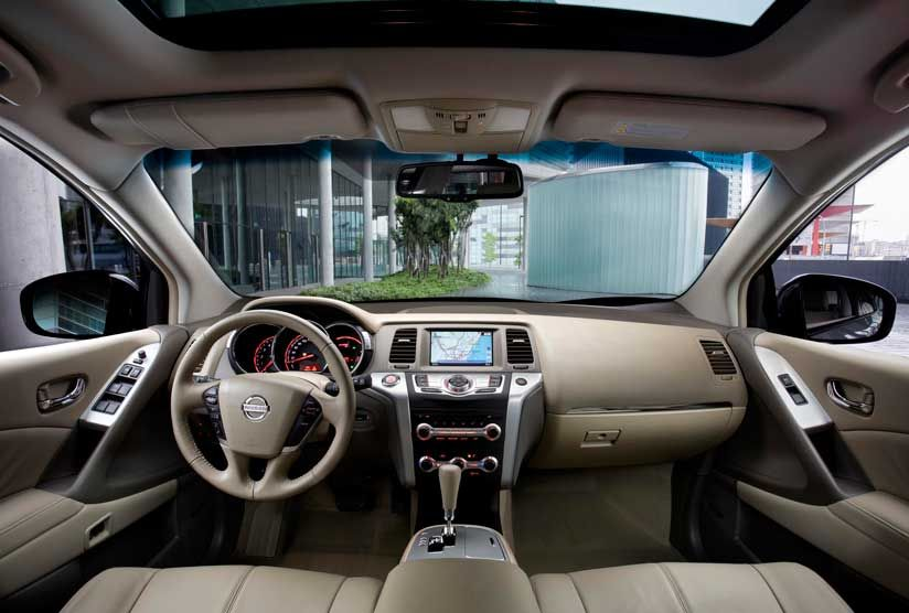 Nissan Murano Interior Console Shown In Cashmere Leather