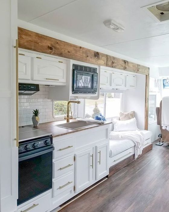 Family of four lives full-time in this stylish and well organized motorhome