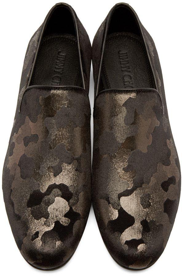 969286cb418 Jimmy Choo - Gunmetal Camouflage Sloane Loafers