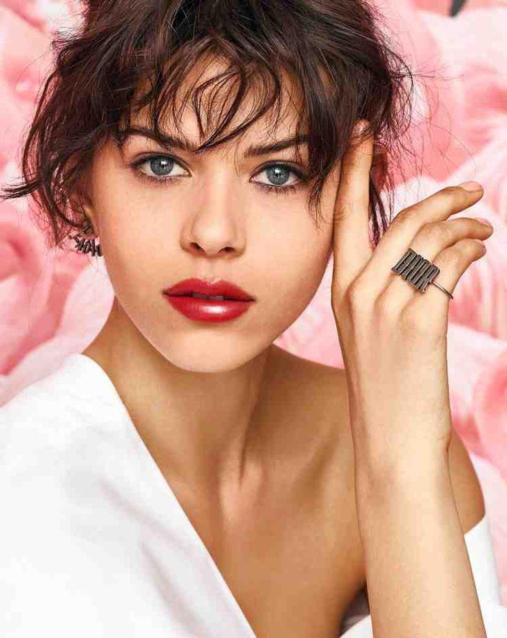 red full lips make-up highlighten - Pinmakeup | Lèvres