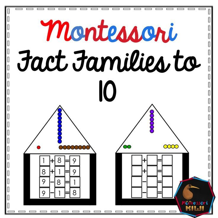 Colored bead fact famlies montessori math material for basic facts ...
