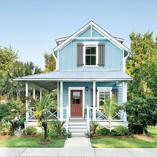 Dark grey craftsman exterior. Beach house. | Craftsman ... |Beach Cottage Exterior
