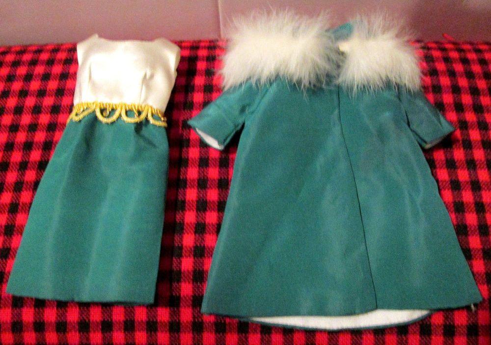 Rare Vhtf Vtg Ideal Tammy Doll Outfit On The Town Coat Dress Tag Taffeta Satin Ebay Town Coat Tammy Doll Coat
